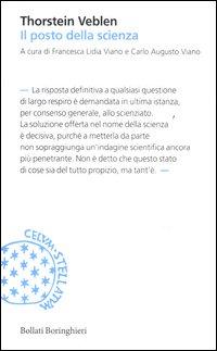 Il posto della scienza - Bollati Boringhieri (2012)
